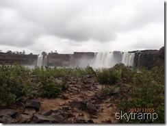 панорама водопада