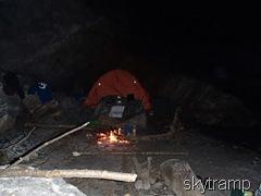 костёр у палатки