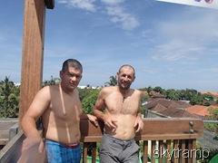 Игорь и Сергей на башне